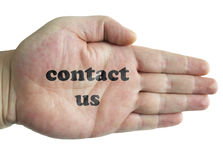 Contactez-nous Photo stock