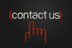 Contactez-nous Photographie stock libre de droits