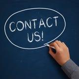 Contactez-nous ! Images libres de droits