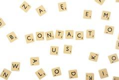 Contactez-nous abstraits avec des chemins de découpage Photos libres de droits