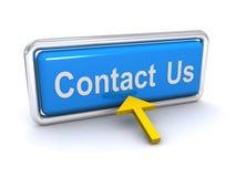 Contactez-nous bouton Images stock