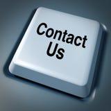 Contactez-nous comput d'Internet de service aux entreprises d'email Photographie stock libre de droits