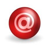 contactez-nous de la boule 3d ronde Images libres de droits