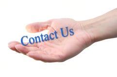 Contactez-nous de lettrage Photo libre de droits