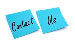 Contactez-nous de papier de note Photos libres de droits