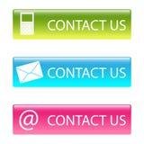 Contactez-nous des boutons Image stock