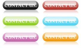 Contactez-nous des boutons Photo stock