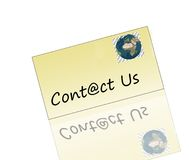 Contactez-nous email de logo Photo stock