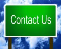 Contactez-nous guide de signe illustration de vecteur