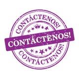 Contactez-nous ! - Langue espagnole Image libre de droits