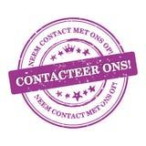 Contactez-nous ! Langue néerlandaise : Ons de Contacteer ! Images libres de droits