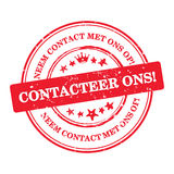 Contactez-nous ! Langue néerlandaise : Ons de Contacteer ! Photos stock