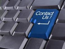 Contactez-nous ou supportez le concept Photographie stock libre de droits