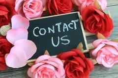 Contactez-nous signe Image stock