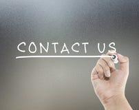 Contactez-nous texte Photographie stock