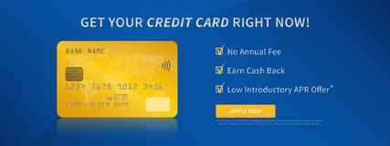Contactless bank credit card promotion creative concept Stock Photography
