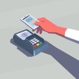 Contactless betalning vektor illustrationer