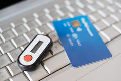Contactless credit card and security pin generator Stock Images
