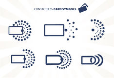 Contactless karta Obrazy Stock