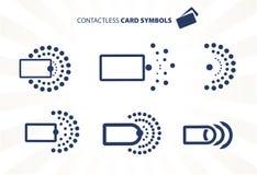 Contactless kort Arkivbilder