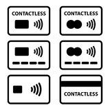 Contactless NFC payment credit card icon Stock Photo