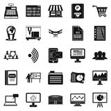 Contactless payment icons set, simple style. Contactless payment icons set. Simple set of 25 contactless payment vector icons for web isolated on white stock illustration