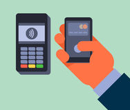 Contactless payment. Stock Photos