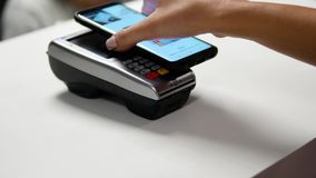 Contactless Payment with Smartphone stock video