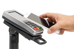 Contactless zapłata z NFC technologią Zdjęcia Stock