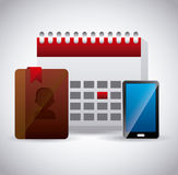 Contactmanager app Stock Foto