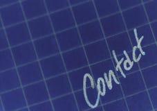 Contacto Imagen de archivo libre de regalías