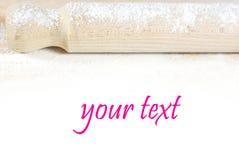 Contacto de balanceo con la polvoreda de la harina Imagen de archivo libre de regalías