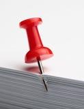 Contacto de gráfico en la pila de papel Fotografía de archivo