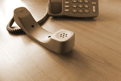 Contacto de la comunicación del teléfono fotografía de archivo