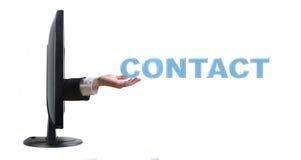 Contacto de la mano y de la palabra Fotografía de archivo