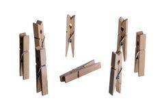 Contacto de madera clásico aislado en blanco Imagen de archivo