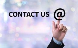 CONTACTO LOS E.E.U.U. (la gente de la línea directa de la atención al cliente CONECTA) Foto de archivo libre de regalías