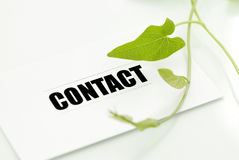 Contacto para el contra ambiental Foto de archivo libre de regalías