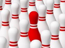 Contacto rojo ilustración del vector