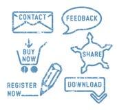Contacto simple del vector, feedback, parte, iconos de la compra stock de ilustración
