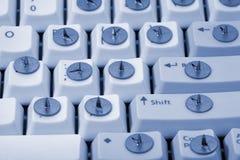 Contacto y teclado de gráfico Imagen de archivo libre de regalías