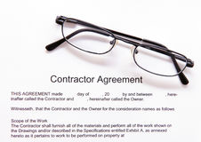 Contactor's agreement Royalty Free Stock Photography