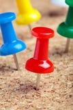 Contactos coloreados del empuje imagen de archivo libre de regalías