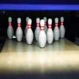 Contactos de bowling Imágenes de archivo libres de regalías