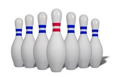 Contactos de bowling imagen de archivo libre de regalías
