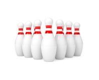 Contactos de bowling aislados en blanco Imagen de archivo
