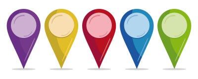 Contactos del color Imagen de archivo libre de regalías