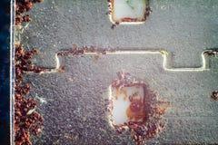 Contactos del enchufe y de la macro del USB foto de archivo libre de regalías