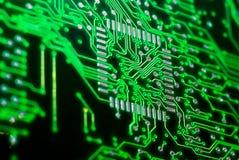 Contactos electrónicos de la CPU Fotos de archivo libres de regalías