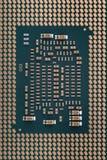 Contactos en el cierre del procesador para arriba imagenes de archivo